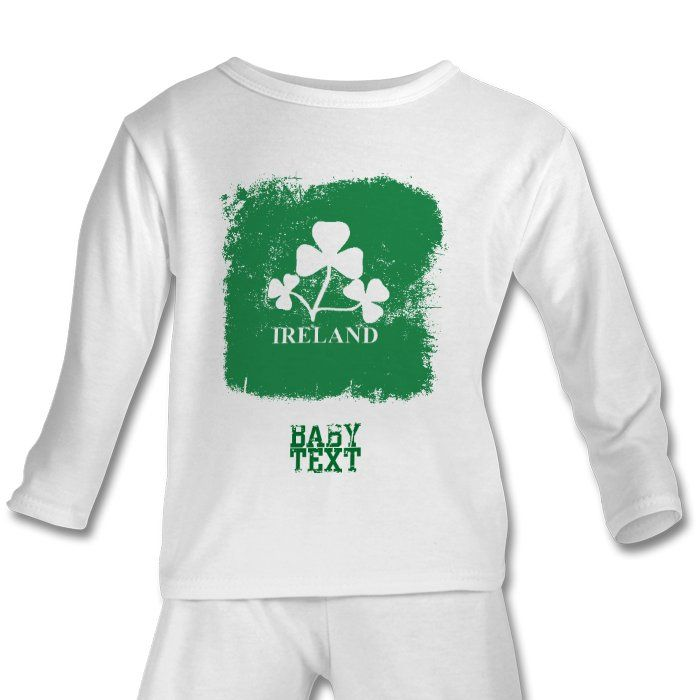 Personalized Baby Gifts Ireland : Personalised baby ireland rugby pjs