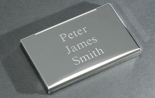 Personalised engraved carbon fibre business card case colourmoves