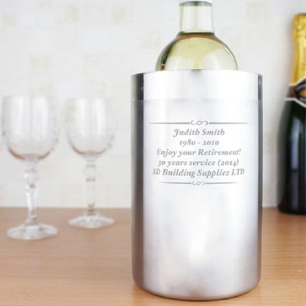 Wedding Gift Ideas Rugby : Personalised Engraved Stainless Steel Wine Cooler