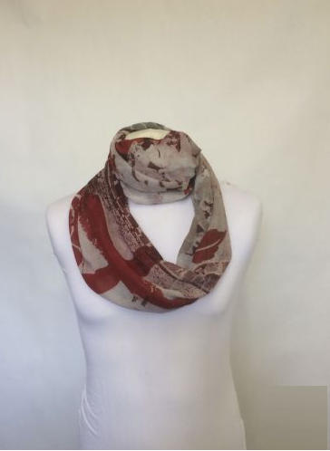 Infinity Scarf Jersey Or Chiffon Denim Jeans Look Design Fashion Loop Scarves