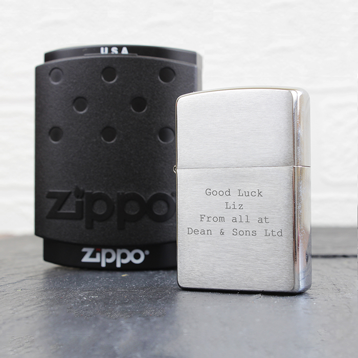 Personalised Engraved Zippo Lighter