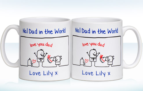 personalised father s day no 1 dad mug