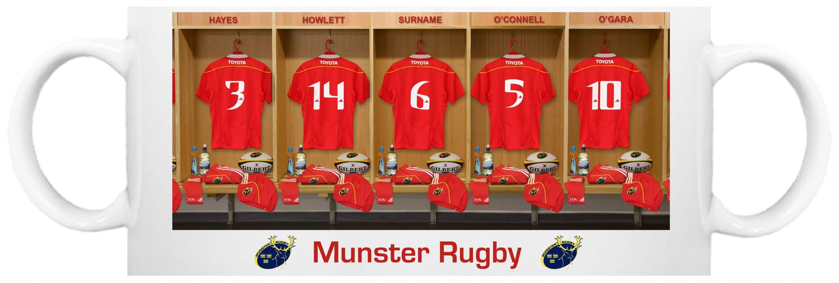 Personalised Munster Rugby Mug